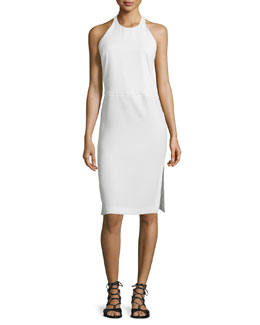 Pawla Racerback Sheath Dress, Ecru