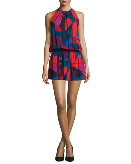c983cd919683df Ramy Brook Paris Sleeveless Jewel-Neck Printed Dress