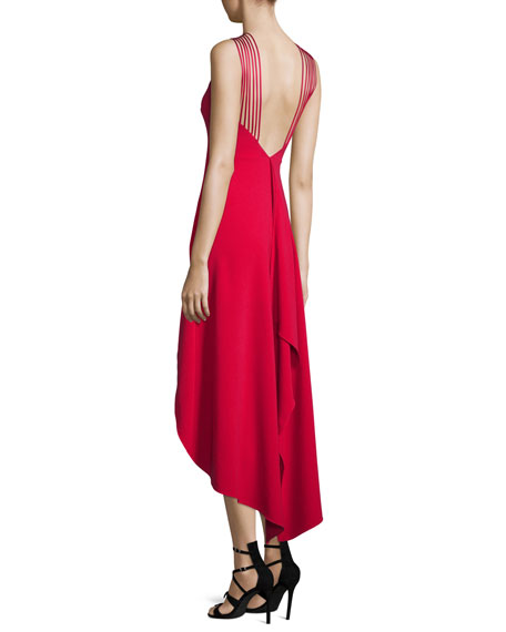 34dceee89d Halston Heritage Sleeveless Strappy High-Low Dress