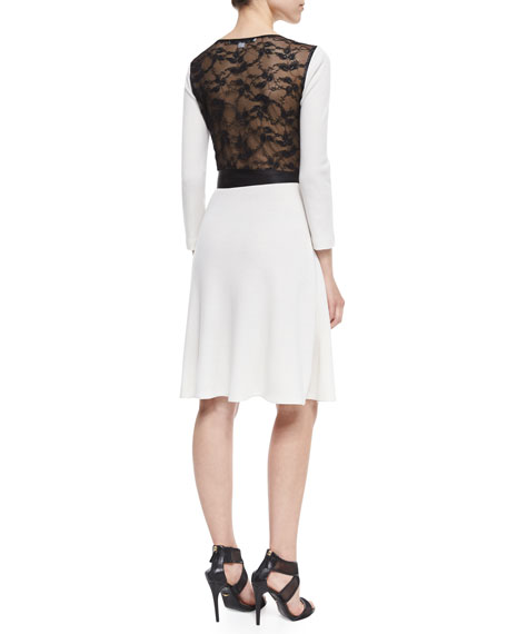 561a2eb66142 Diane von Furstenberg Seduction Long-Sleeve Lace-Trim Wrap Dress ...
