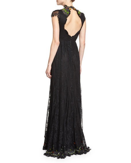Arwen Beaded Lace Gown