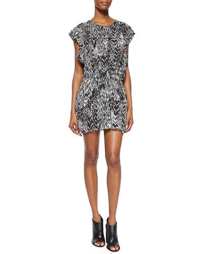 Cantela Ikat-Print Dress