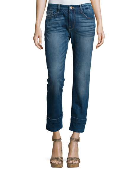 FRAME Le Grand Garcon Cropped Trouser Jeans, Novello