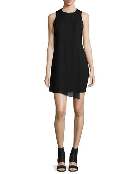 Elizabeth and James Felicia Asymmetric Shift Dress, Black