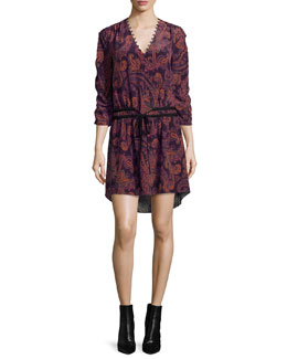 Benson Boho Floral Silk Mini Dress