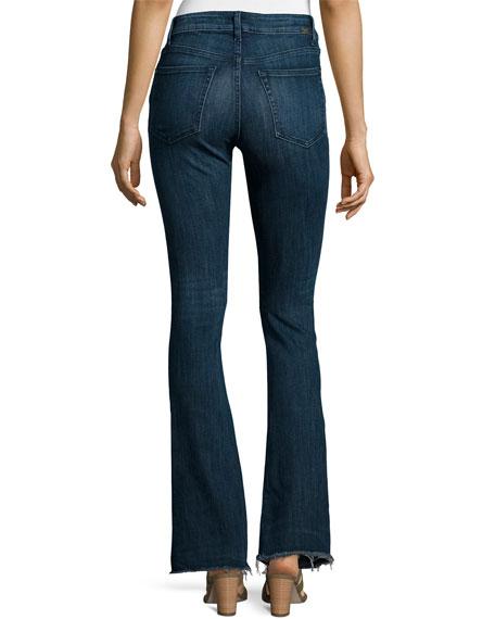 Heather High-Waist Flare-Leg Jeans, Triton