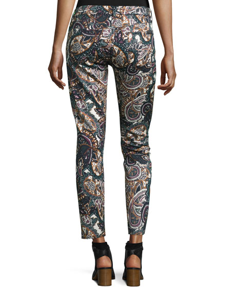 The Ankle Skinny Printed Jeans, Underground Paisley