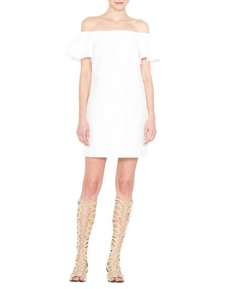 4918a09d348c Alice + Olivia Tula Off-the-Shoulder Poplin Shift Dress