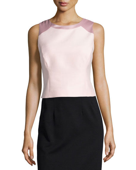 Sleeveless Structured Top, Sorbet