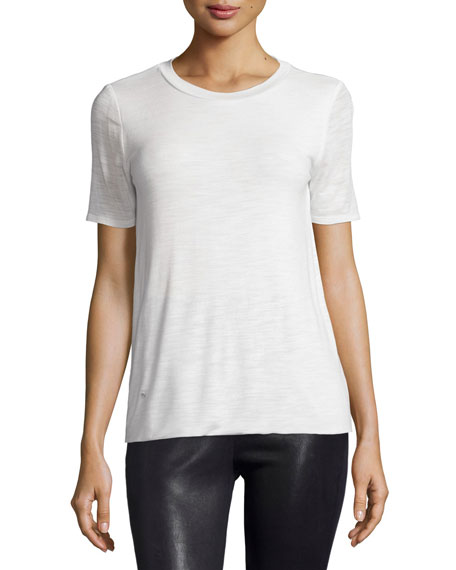 Short-Sleeve Round-Neck Tee, Bone