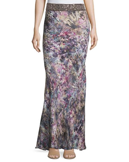 Marianne Embellished Skirt, Swan/Multi