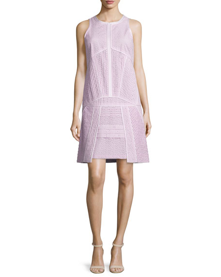 Sleeveless Eyelet Dress, Rose Clair
