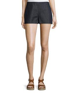 Mid-Rise Boy Shorts, Indigo