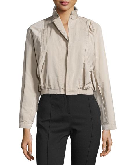 Long-Sleeve Short Jacket, Nude