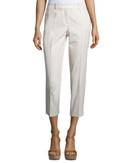 Samantha Slim-Leg Cropped Pants, Natural