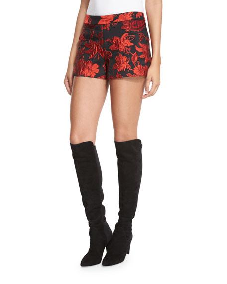 Marisa Floral Jacquard Shorts