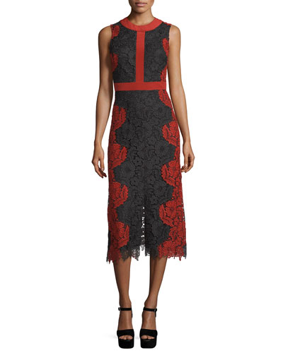 Ivonne Floral Lace Sheath Dress