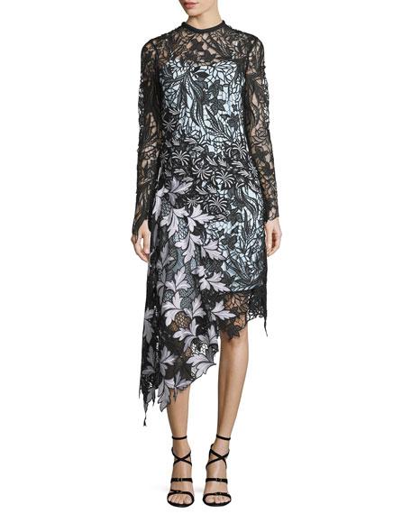 Self-Portrait floral asymmetric dress 2018 New Cheap Fake Discount 2018 Cheap Sale Online 6Fvue4
