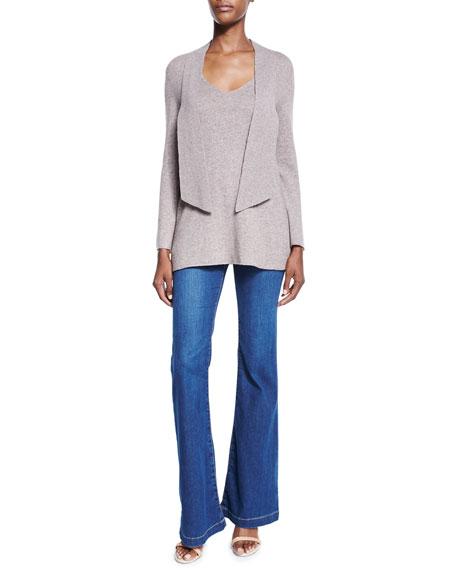 Nouveau Flare-Leg Denim Jeans, Cobalt Wash