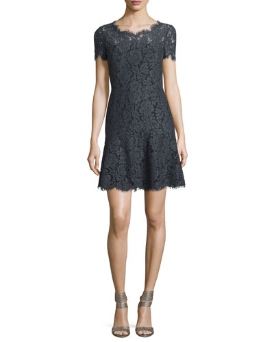 Fifi Floral Lace Fit & Flare Dress