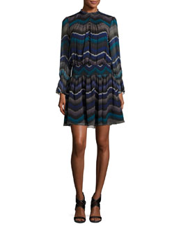 Kelley Encore Printed Blouson Dress