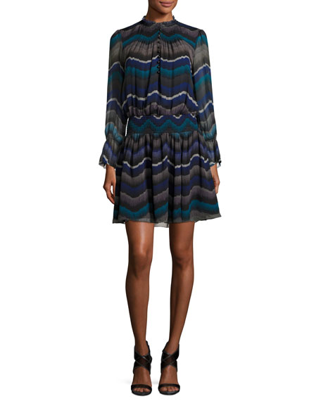 Kelley Encore Printed Blouson Dress