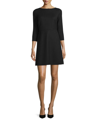 Kamillina Saxton 3/4-Sleeve Dress, Black