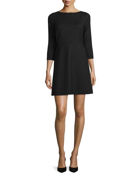 Kamillina Saxton 3/4-Sleeve Dress, Black