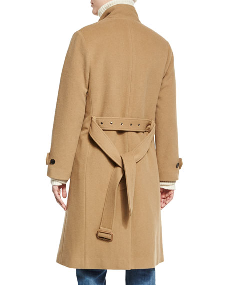 ad4a4256414d2 Vince Wool-Blend Double-Breasted Trenchcoat