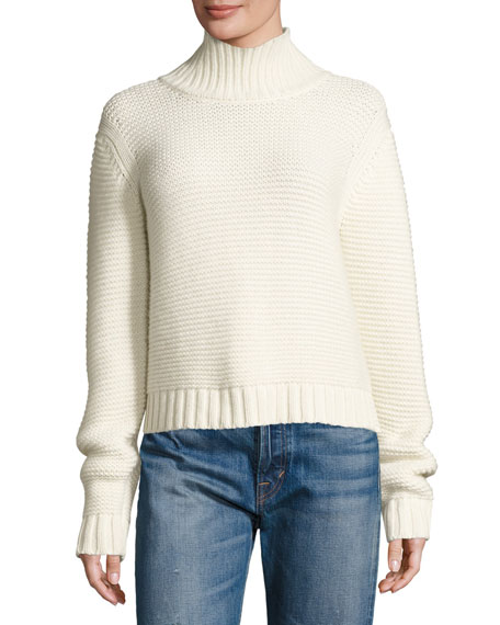 Vince Chunky Cowl-Neck Sweater, Winter White