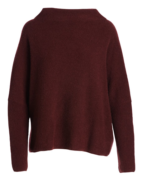 Boiled Cashmere Funnel-Neck Sweater