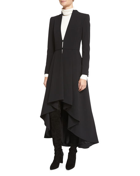 Alcina High-Low Pleated Dress Coat