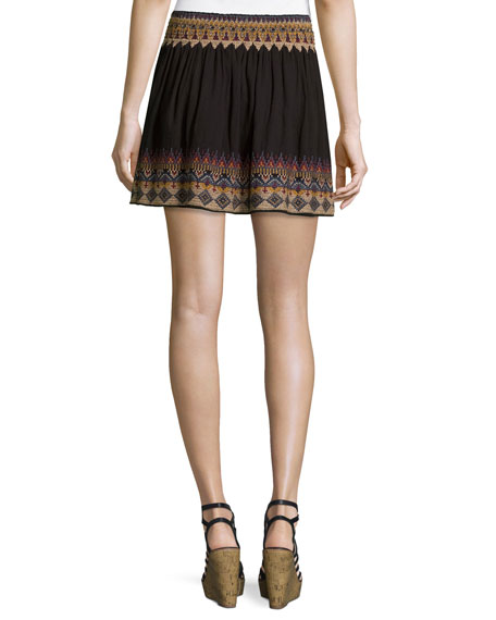 Lilith Embroidered Miniskirt