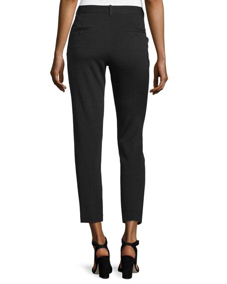 Treeca K Oxford Cropped Pants, Black