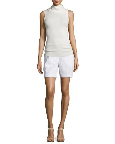 cf640422b32 Theory Harsbie Crunch Washed Shorts, White
