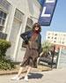 Hayley Sleeveless Tiered Multipattern Midi Dress, Brown/Multicolor