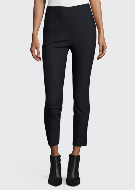Cropped Stretch Leggings, Midnight