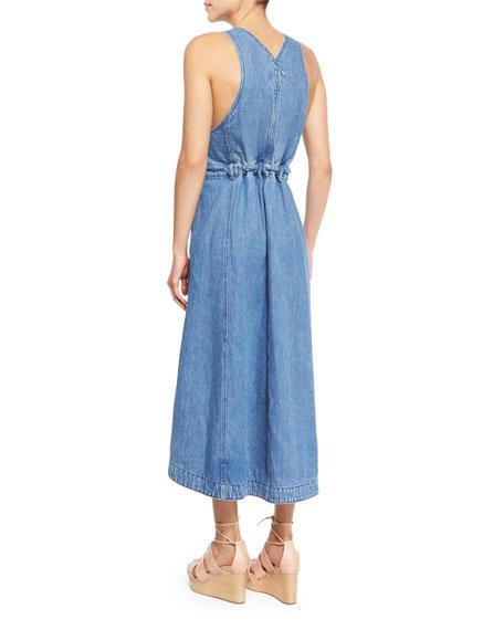 a79de376491 See by Chloe Denim Overall Midi Dress