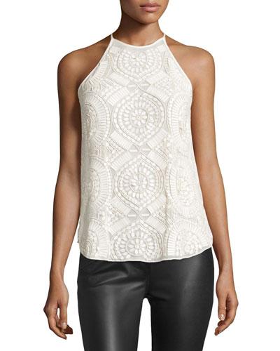 Laygin Embellished Sleeveless Top, Ivory