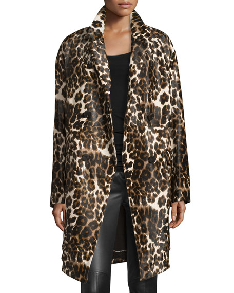 Diane von Furstenberg Finola Two Calf Hair Coat,