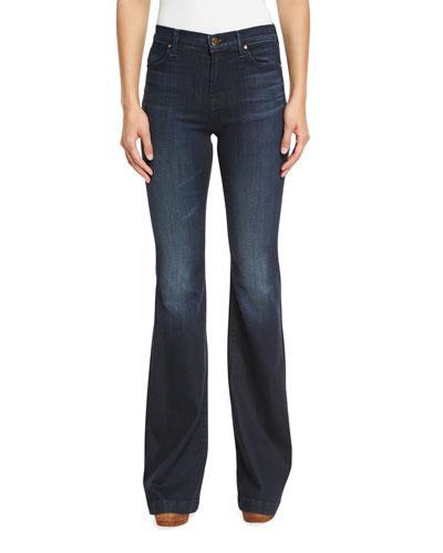 Maria High-Rise Flare-Leg Jeans, Dark Innovation