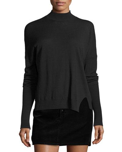 Acacia Mock-Neck Sweater, Green