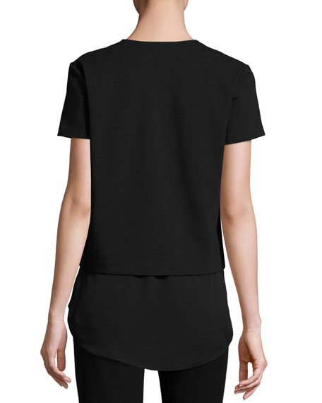 Zadeia Fixture Short-Sleeve Top