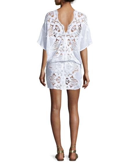Katya Floral Lace Coverup Dress
