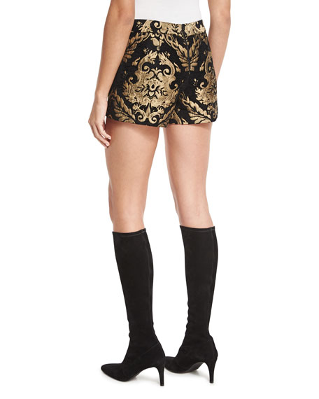 Marisa Baroque Embroidered Shorts