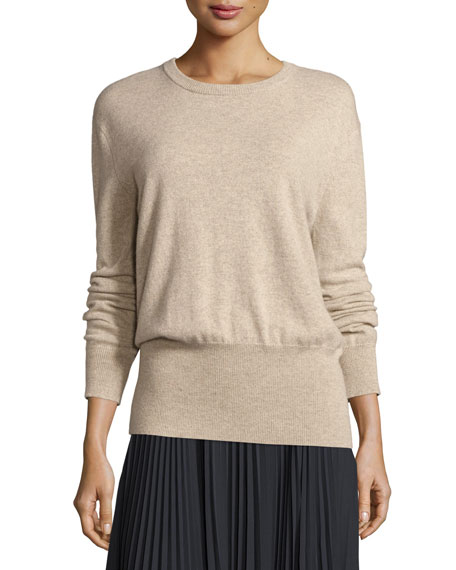 Vince Cashmere Cutout-Back Blouson Sweater