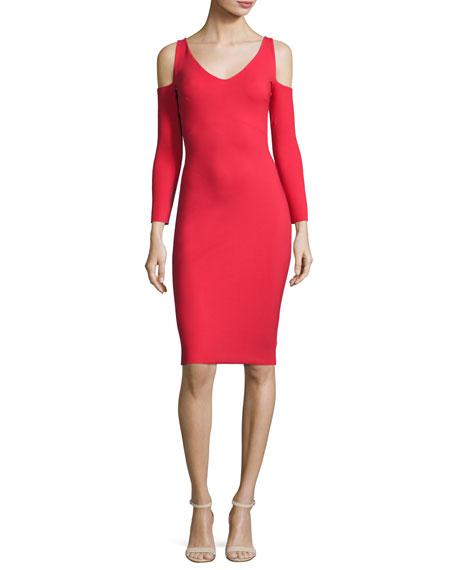 Addison Cold-Shoulder Bodycon Cocktail Dress