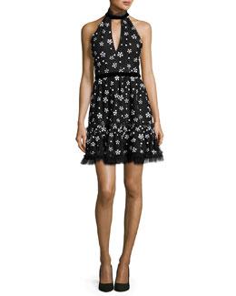 Poppy Sequined Cocktail Dress, Black