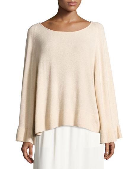 Elizabeth and James Freja Wool-Blend Flutter-Sleeve Sweater,