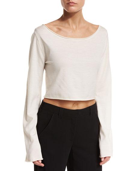 Leandra Raw-Edge Cropped Sweater